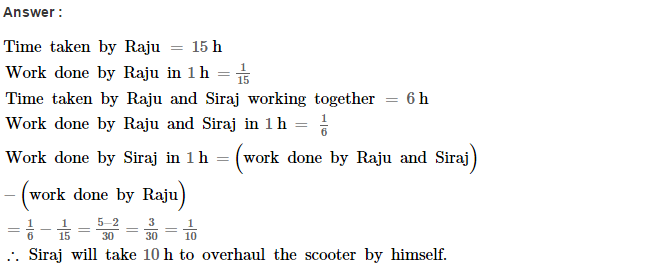 Time and Work RS Aggarwal Class 8 Maths Solutions Ex 13A 5.1