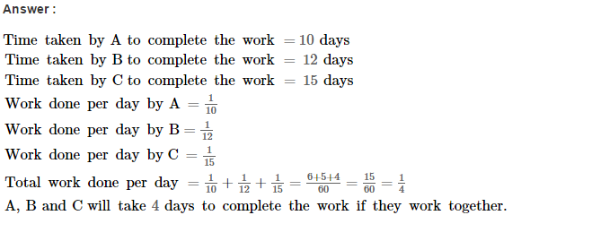 Time and Work RS Aggarwal Class 8 Maths Solutions Ex 13A 6.1