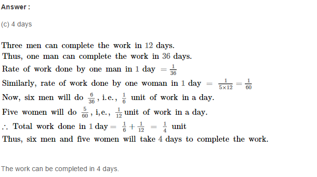 Time and Work RS Aggarwal Class 8 Maths Solutions Ex 13B 10.1