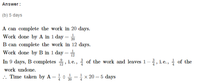 Time and Work RS Aggarwal Class 8 Maths Solutions Ex 13B 13.1