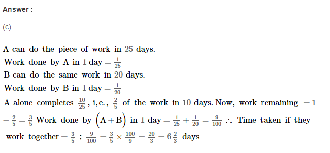 Time and Work RS Aggarwal Class 8 Maths Solutions Ex 13B 14.1