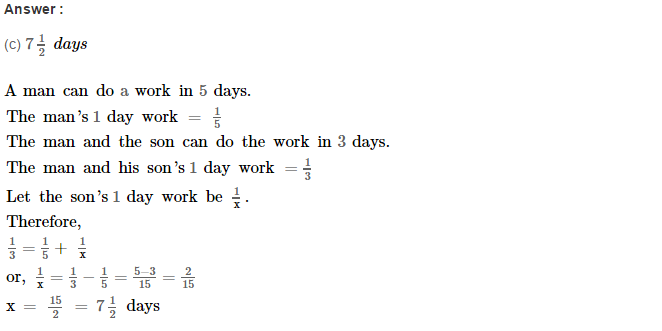 Time and Work RS Aggarwal Class 8 Maths Solutions Ex 13B 3.1