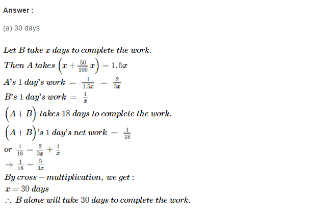 Time and Work RS Aggarwal Class 8 Maths Solutions Ex 13B 4.2