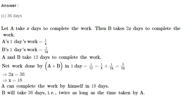 Time and Work RS Aggarwal Class 8 Maths Solutions Ex 13B 6.1