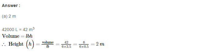 Volume and Surface Area of Solids RS Aggarwal Class 8 Solutions Ex 20C 11.1