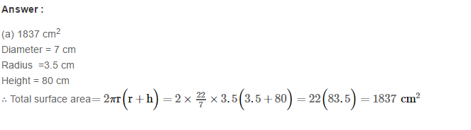 Volume and Surface Area of Solids RS Aggarwal Class 8 Solutions Ex 20C 27.1