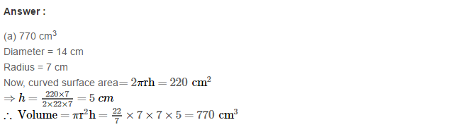 Volume and Surface Area of Solids RS Aggarwal Class 8 Solutions Ex 20C 29.1