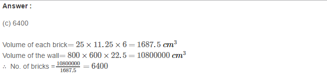 Volume and Surface Area of Solids RS Aggarwal Class 8 Solutions Ex 20C 5.1