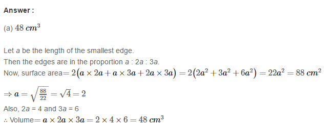 Volume and Surface Area of Solids RS Aggarwal Class 8 Solutions Ex 20C 7.1