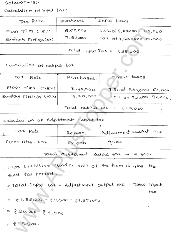 ML-Aggarwal ICSE Solutions for Class 10 Maths Ch 25 Value Added TaxQ1.16