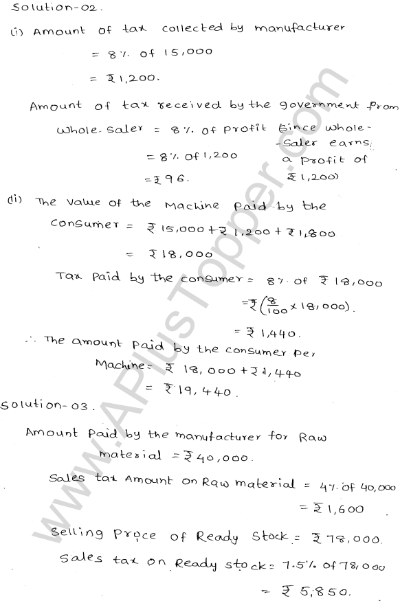 ML-Aggarwal ICSE Solutions for Class 10 Maths Ch 25 Value Added TaxQ1.2