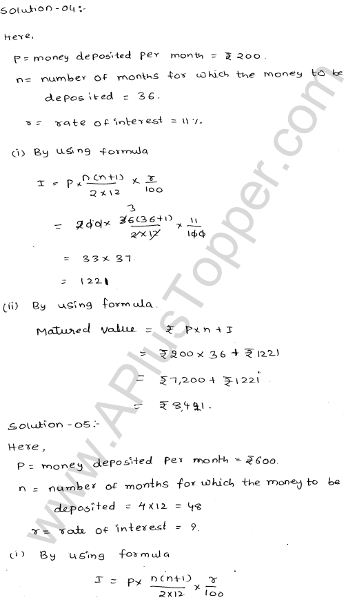 ML-Aggarwal ICSE Solutions for Class 10 Maths Ch 3 Banking Q1.3