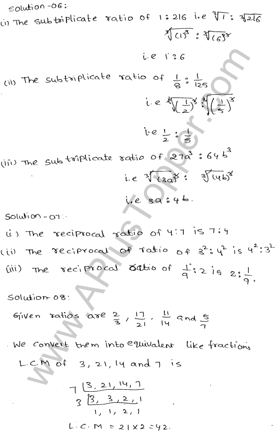 ML-Aggarwal ICSE Solutions for Class 10 Maths Ch 8 Ratios and Proportions Q1.3