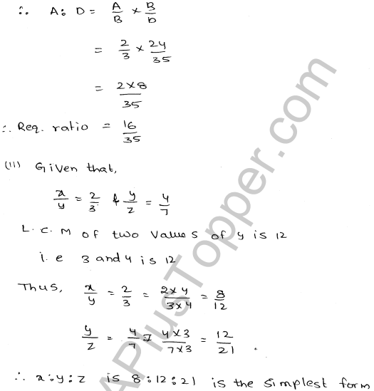 ML-Aggarwal ICSE Solutions for Class 10 Maths Ch 8 Ratios and Proportions Q1.4