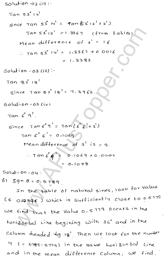 ML Aggarwal ICSE Solutions for Class 10 Maths Chapter 20 Trigonometric Tables Q1.4