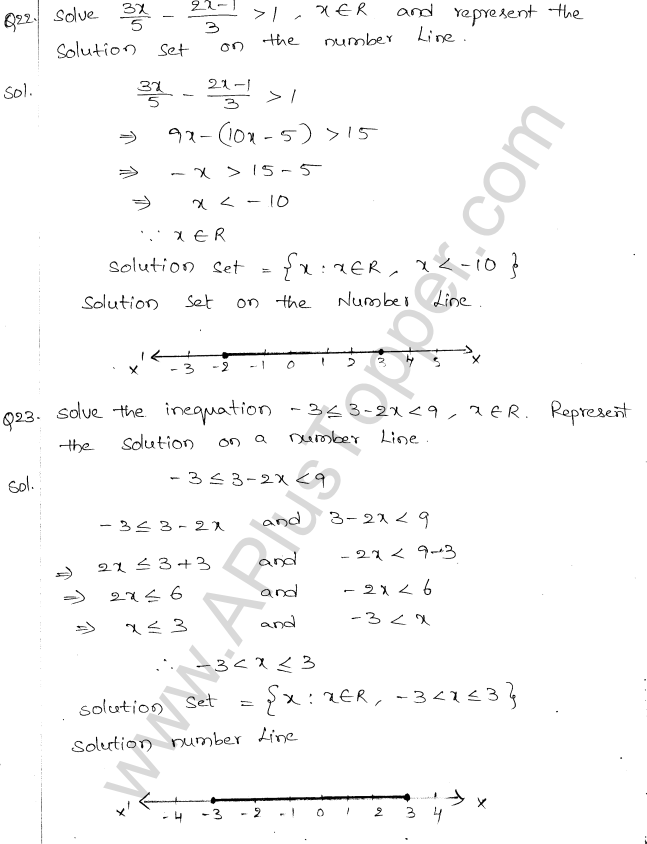 ML Aggarwal ICSE Solutions for Class 10 Maths Chapter 5 Linear Inequations Q1.11
