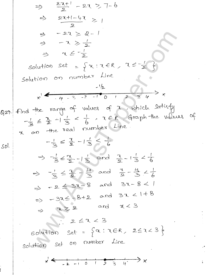 ML Aggarwal ICSE Solutions for Class 10 Maths Chapter 5 Linear Inequations Q1.14