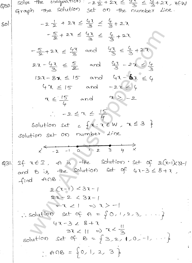 ML Aggarwal ICSE Solutions for Class 10 Maths Chapter 5 Linear Inequations Q1.15