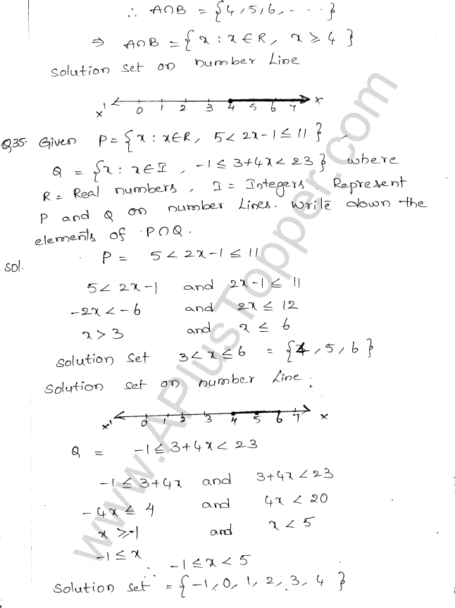 ML Aggarwal ICSE Solutions for Class 10 Maths Chapter 5 Linear Inequations Q1.17