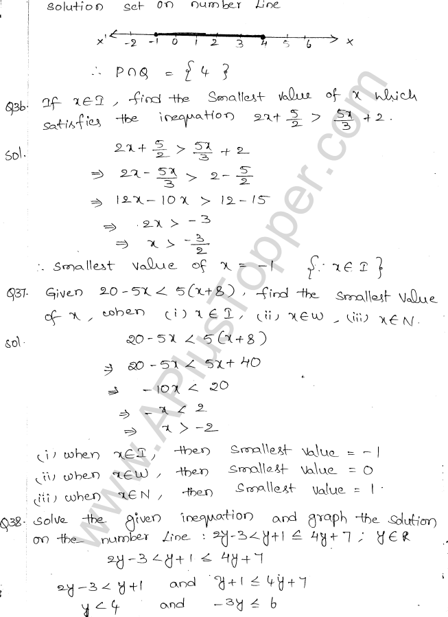 ML Aggarwal ICSE Solutions for Class 10 Maths Chapter 5 Linear Inequations Q1.18