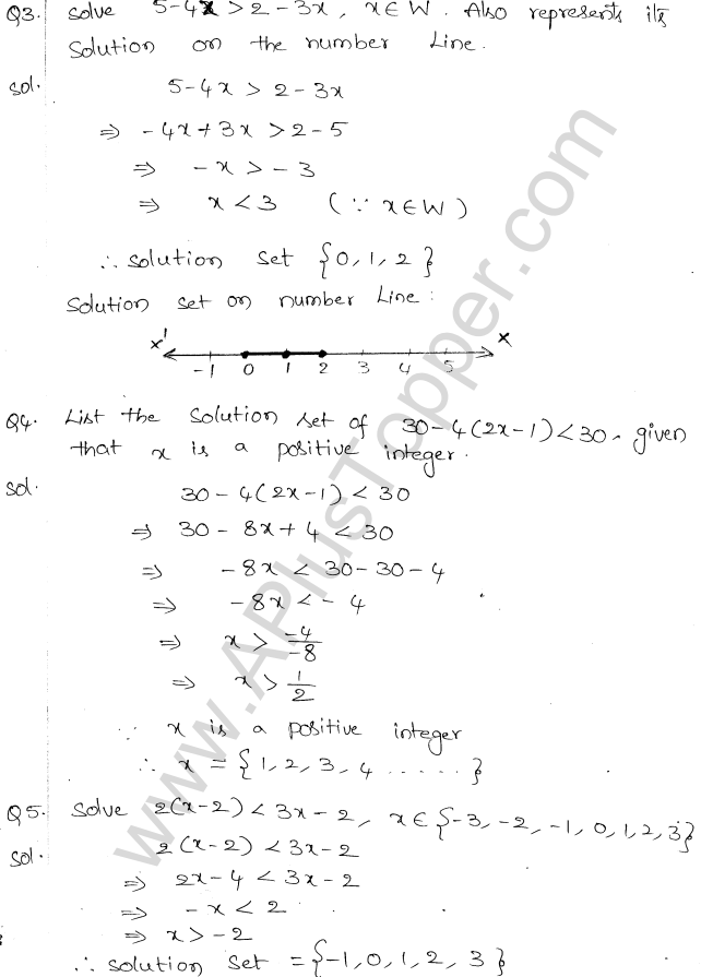 ML Aggarwal ICSE Solutions for Class 10 Maths Chapter 5 Linear Inequations Q1.2