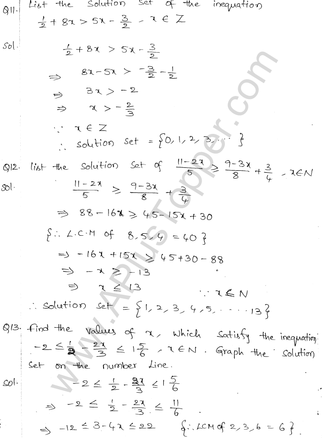 ML Aggarwal ICSE Solutions for Class 10 Maths Chapter 5 Linear Inequations Q1.5