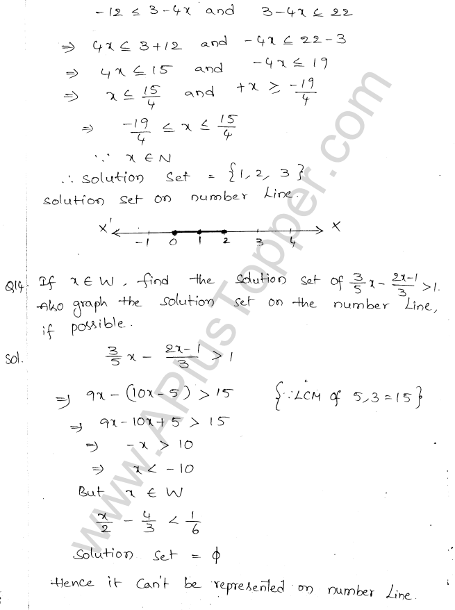 ML Aggarwal ICSE Solutions for Class 10 Maths Chapter 5 Linear Inequations Q1.6
