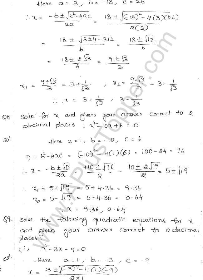 ML Aggarwal ICSE Solutions for Class 10 Maths Chapter 6 Quadratic Equations in One Variable Q6.23