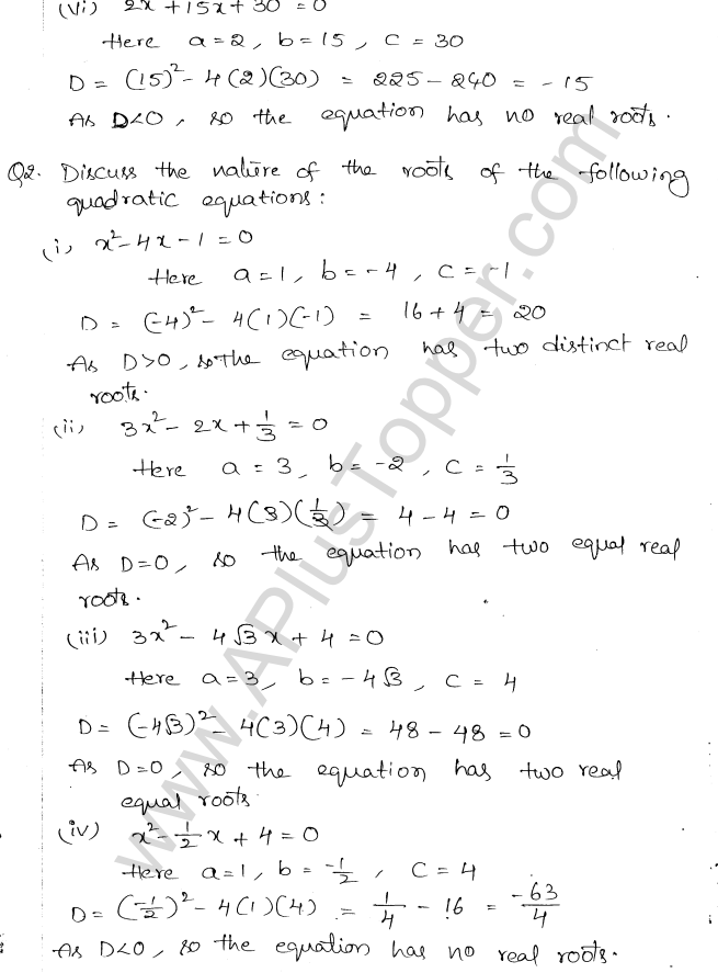 ML Aggarwal ICSE Solutions for Class 10 Maths Chapter 6 Quadratic Equations in One Variable Q6.27