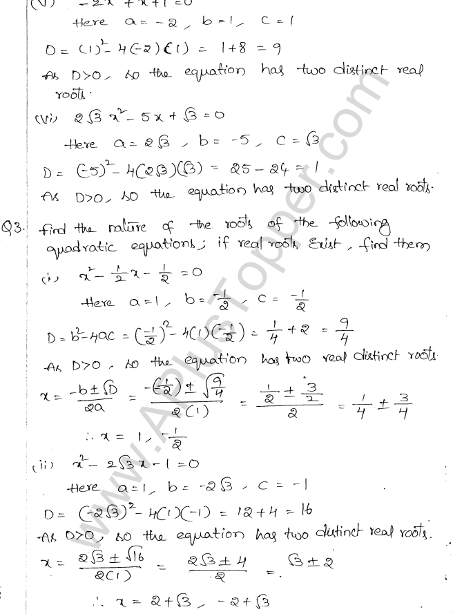 ML Aggarwal ICSE Solutions for Class 10 Maths Chapter 6 Quadratic Equations in One Variable Q6.28