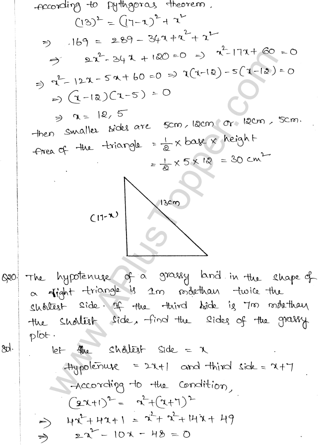 ML Aggarwal ICSE Solutions for Class 10 Maths Chapter 6 Quadratic Equations in One Variable Q6.49