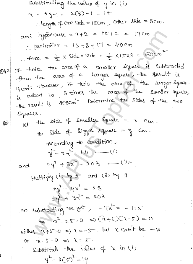 ML Aggarwal ICSE Solutions for Class 10 Maths Chapter 6 Quadratic Equations in One Variable Q6.64
