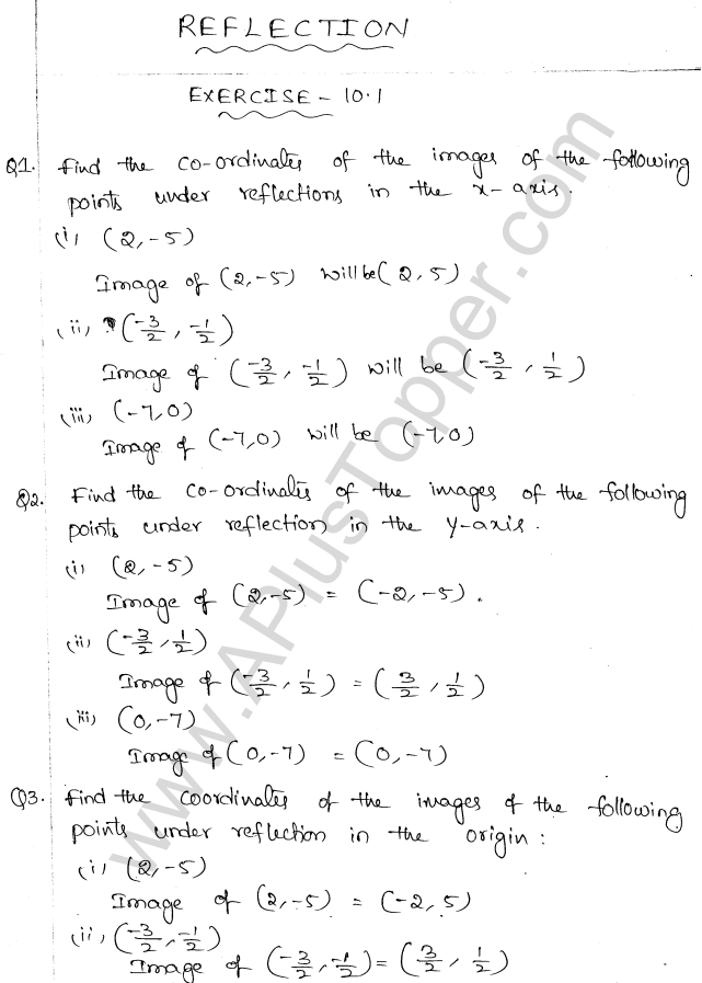 ML Aggarwal ICSE Solutions for Class 10 Maths Chapter 10 Reflection Q1.1