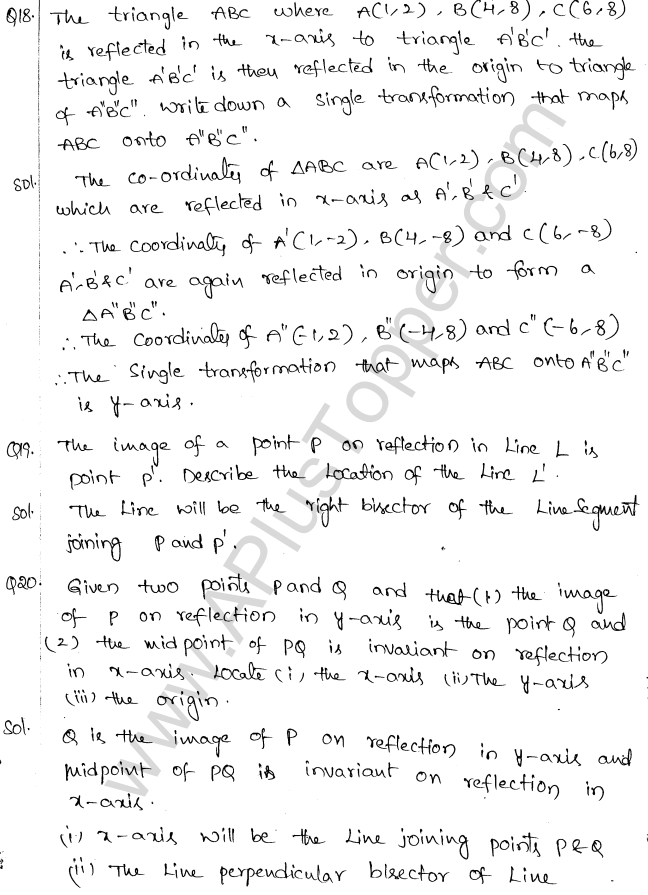 ML Aggarwal ICSE Solutions for Class 10 Maths Chapter 10 Reflection Q1.10