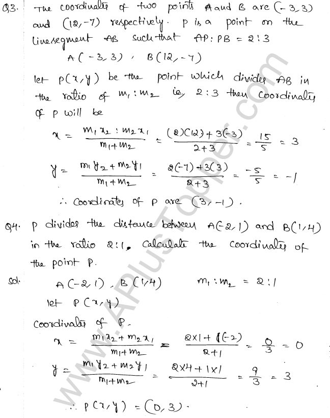 ML Aggarwal ICSE Solutions for Class 10 Maths Chapter 11 Section Formula Q1.14