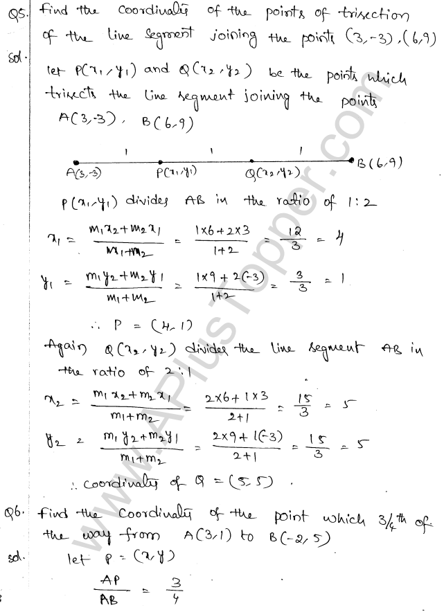 ML Aggarwal ICSE Solutions for Class 10 Maths Chapter 11 Section Formula Q1.15