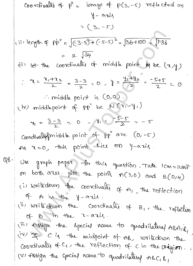 ML Aggarwal ICSE Solutions for Class 10 Maths Chapter 11 Section Formula Q1.17