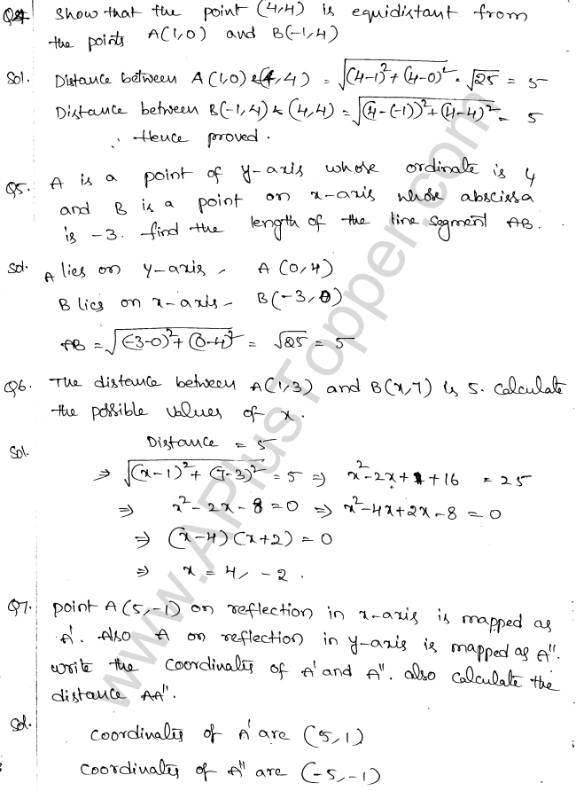 ML Aggarwal ICSE Solutions for Class 10 Maths Chapter 11 Section Formula Q1.2