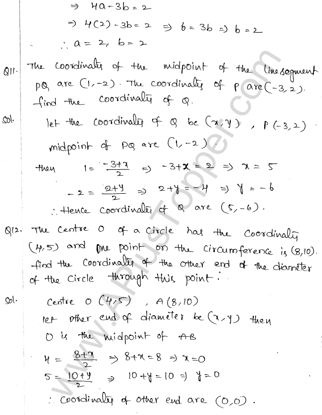 ML Aggarwal ICSE Solutions for Class 10 Maths Chapter 11 Section Formula Q1.20