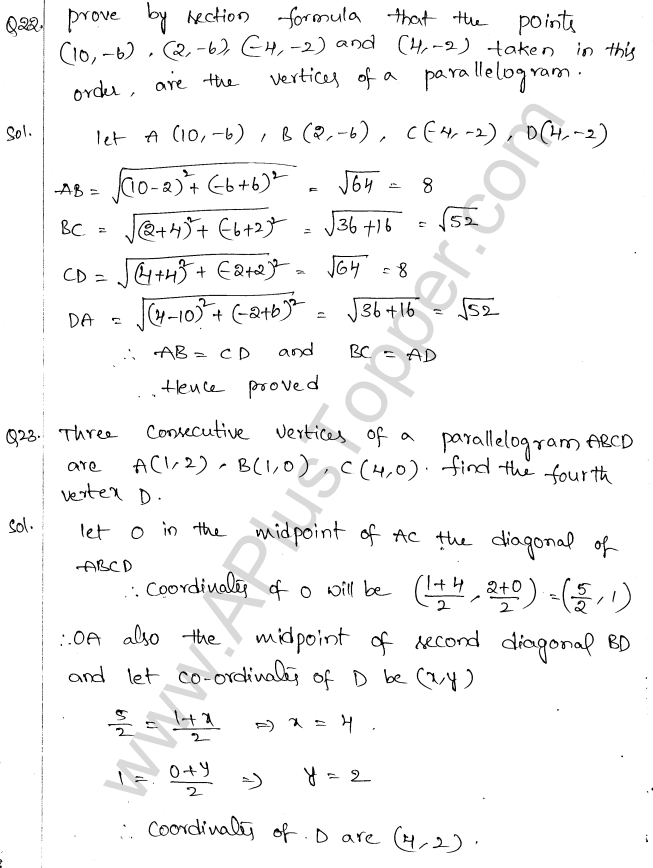 ML Aggarwal ICSE Solutions for Class 10 Maths Chapter 11 Section Formula Q1.26
