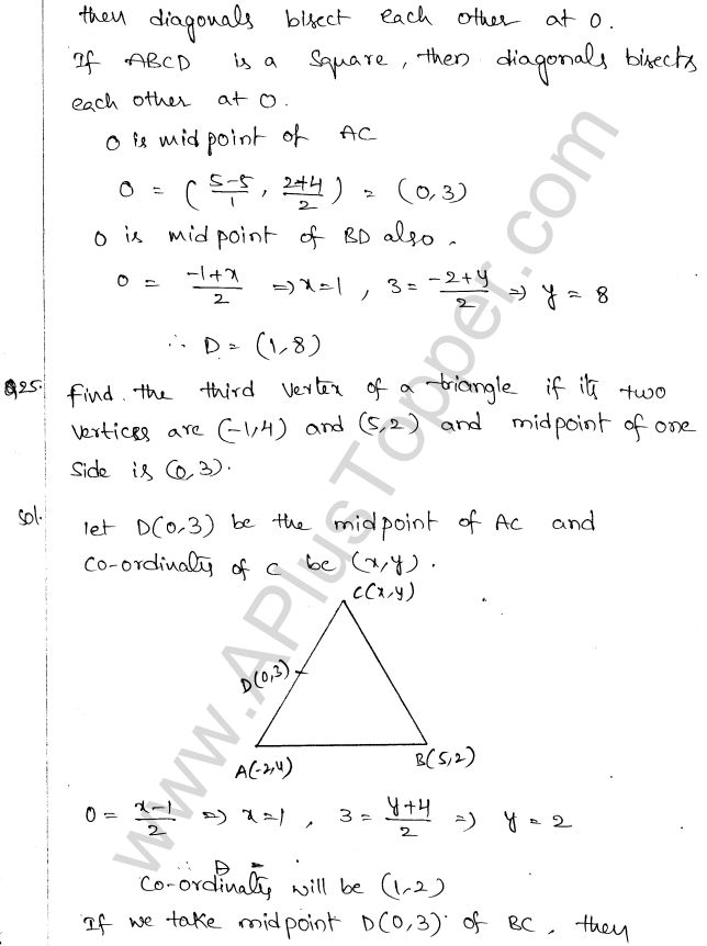 ML Aggarwal ICSE Solutions for Class 10 Maths Chapter 11 Section Formula Q1.28