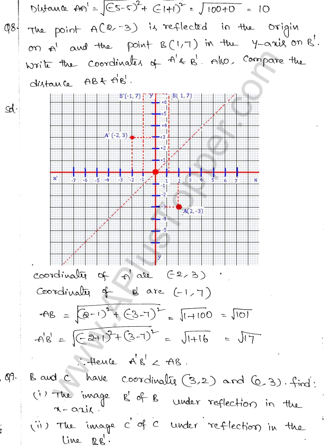 ML Aggarwal ICSE Solutions for Class 10 Maths Chapter 11 Section Formula Q1.3