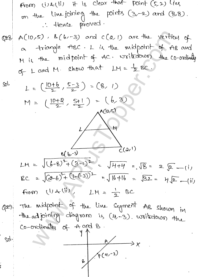 ML Aggarwal ICSE Solutions for Class 10 Maths Chapter 11 Section Formula Q1.31