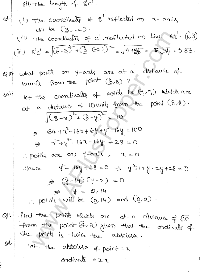 ML Aggarwal ICSE Solutions for Class 10 Maths Chapter 11 Section Formula Q1.4