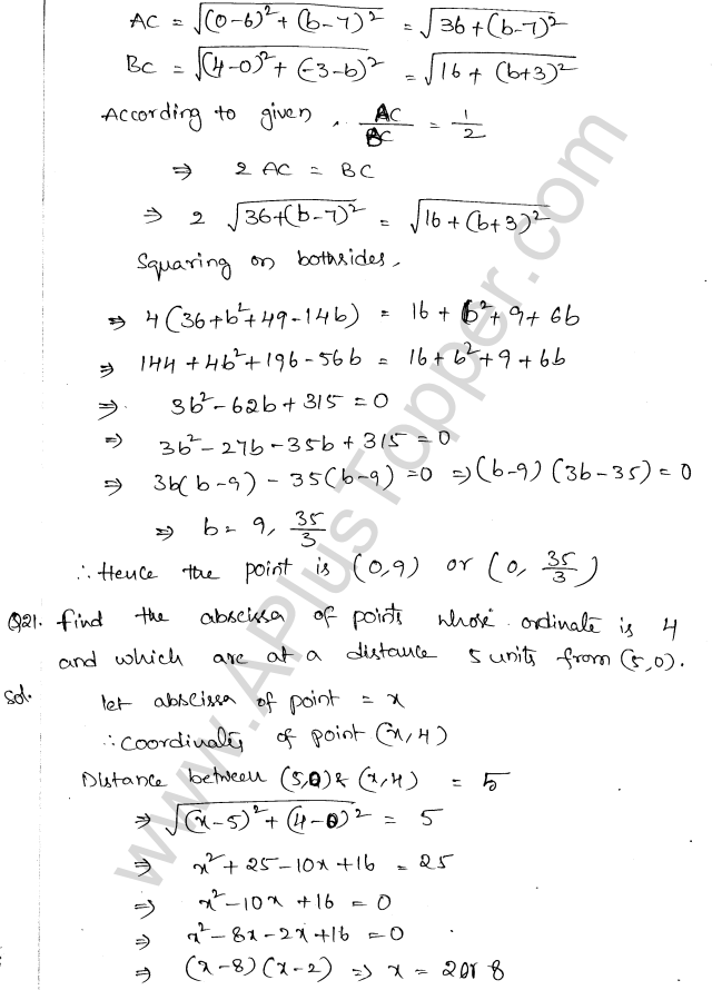 ML Aggarwal ICSE Solutions for Class 10 Maths Chapter 11 Section Formula Q1.9