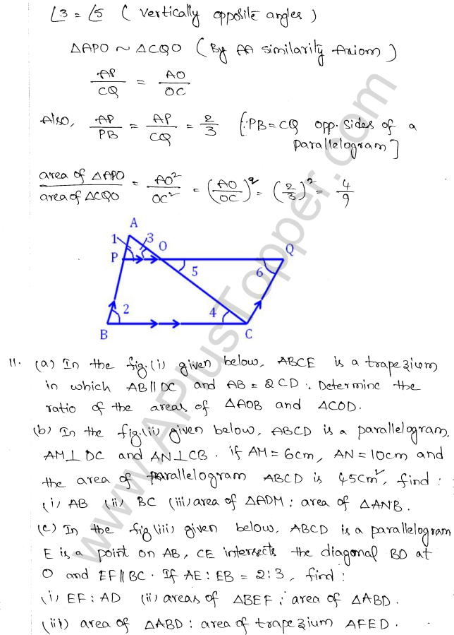 ML Aggarwal ICSE Solutions for Class 10 Maths Chapter 14 Similarity Q1.10