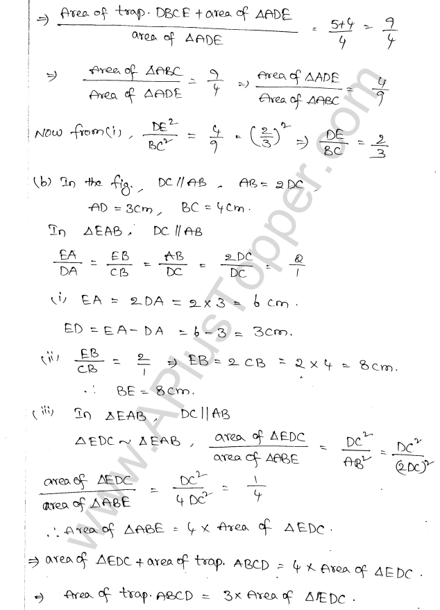 ML Aggarwal ICSE Solutions for Class 10 Maths Chapter 14 Similarity Q1.16
