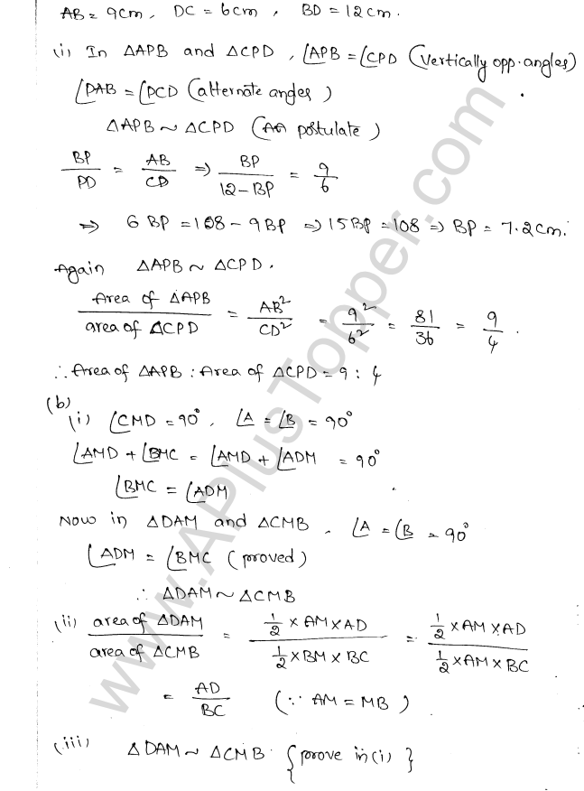 ML Aggarwal ICSE Solutions for Class 10 Maths Chapter 14 Similarity Q1.18