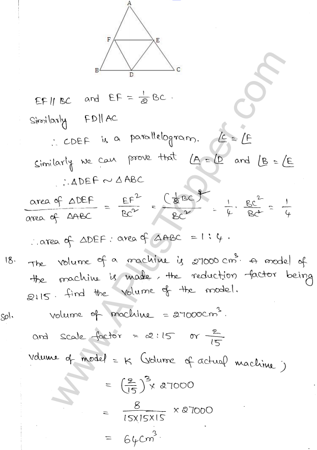 ML Aggarwal ICSE Solutions for Class 10 Maths Chapter 14 Similarity Q1.21