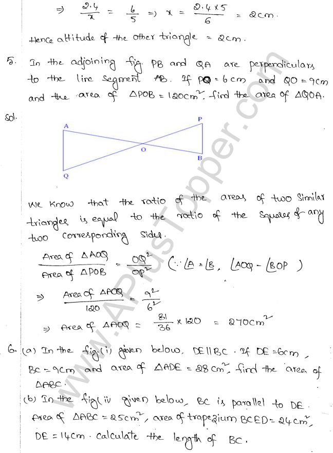 ML Aggarwal ICSE Solutions for Class 10 Maths Chapter 14 Similarity Q1.3